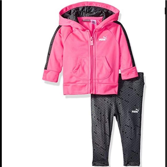 Puma Other - Baby Girls' PUMA Track Jacket and Legging Set